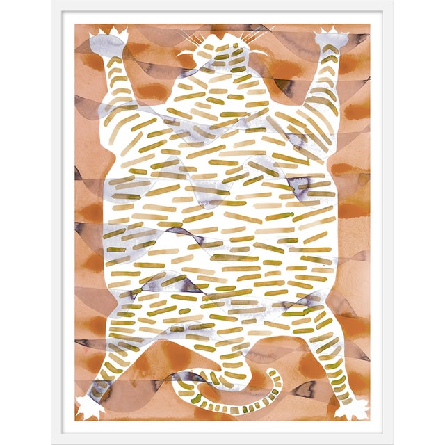 "Medium ""Tiger Rug Camel & Tan"" Print by Kate Roebuck, 27"" X 35"" For Sale - Image 4 of 4"