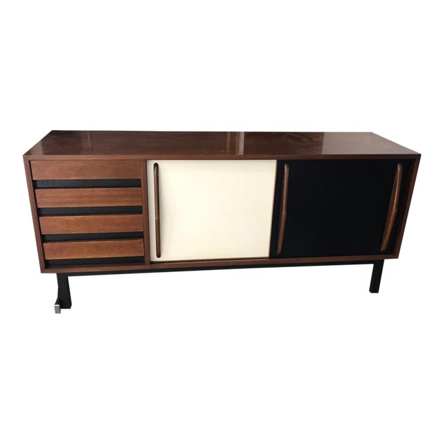 1958 Mid-Century Modern Charlotte Perriand for Steph Simon Cansado Cabinet For Sale