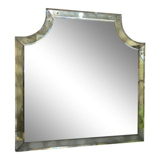 Mirror Framed Mirror With Beveled Glass For Sale