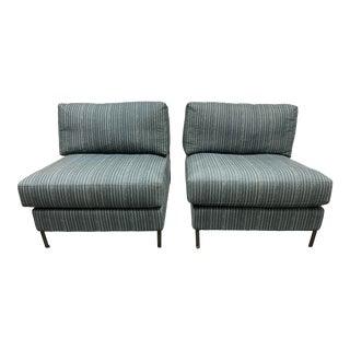 Cisco Sunrise Home Deep Green Slipper Chair - a Pair For Sale