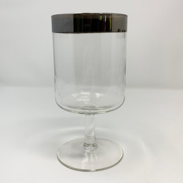 Mid-Century Modern 1950s Mid Century Dorothy Thorpe Silver Rim Wine Glasses - Set of 8 For Sale - Image 3 of 10