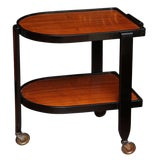Image of French Bar Cart in Mahogany and Ebonized Wood For Sale