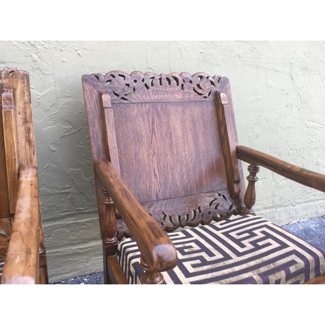 19th Century Convertible Pair of Monk's Chair or End Table,Foldable Armchair For Sale - Image 10 of 11