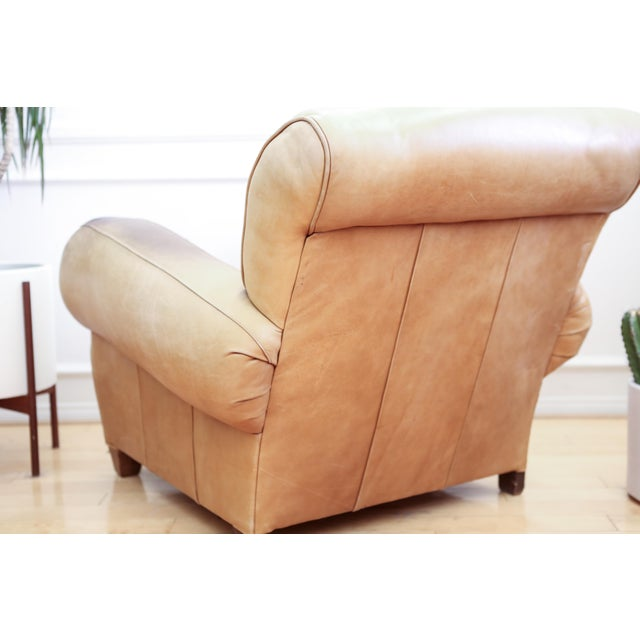 Original Vintage Leather Club Chair For Sale - Image 10 of 11