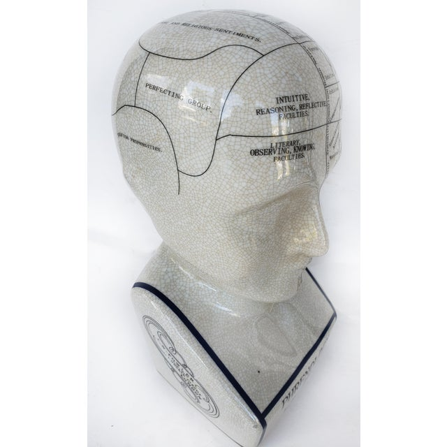 "Offered for sale is a vintage ceramic phrenology bust or head titled ""Brain functions"" by L.N.Fowler, London. The head has..."