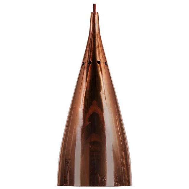Mid-Century Copper Hanging Lamp by JT Kalmar For Sale - Image 6 of 6