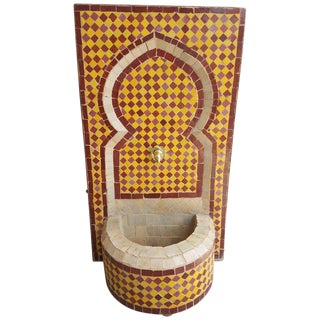 Moroccan Marrakech 3 Mosaic Mini Tri-Color Fountain For Sale