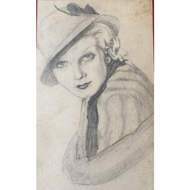This is a pencil drawing on paper attached to a board (RLS 197 Board) signed by J.S. Jr. The portrait is of a...