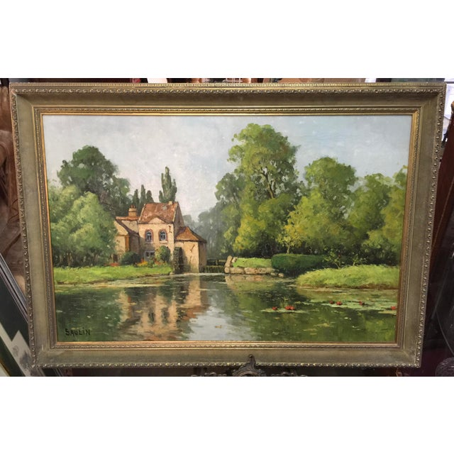 Saulin Oil Painting French Landscape Moulin Des Beechet a Olivet For Sale In San Francisco - Image 6 of 6