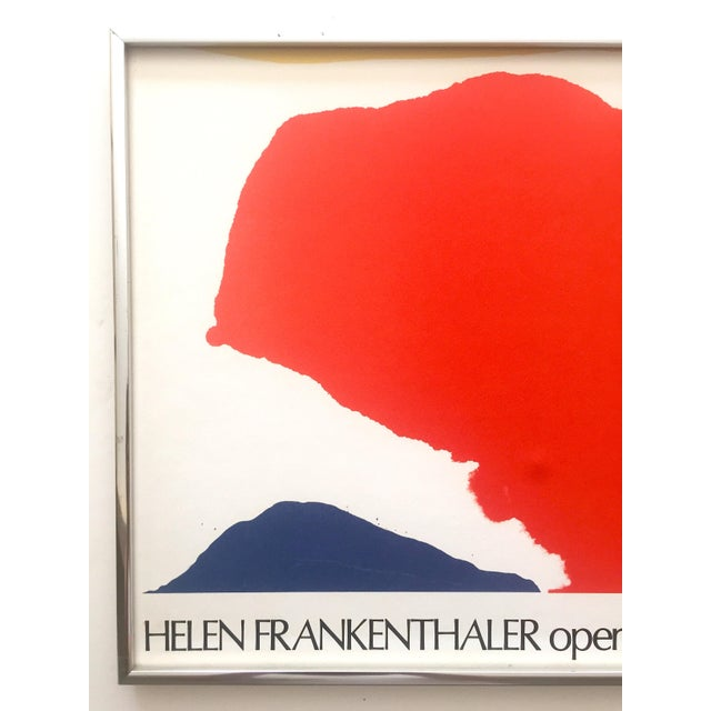Various Artists Helen Frankenthaler Rare 1974 Mid Century Modern Abstract Expressionist Lithograph Print Framed Exhibition Poster For Sale - Image 4 of 13