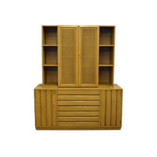 20th Century Contemporary Sligh Furniture Grand Rapids Cross Country Collection Buffet and Cupboard Hutch Top For Sale