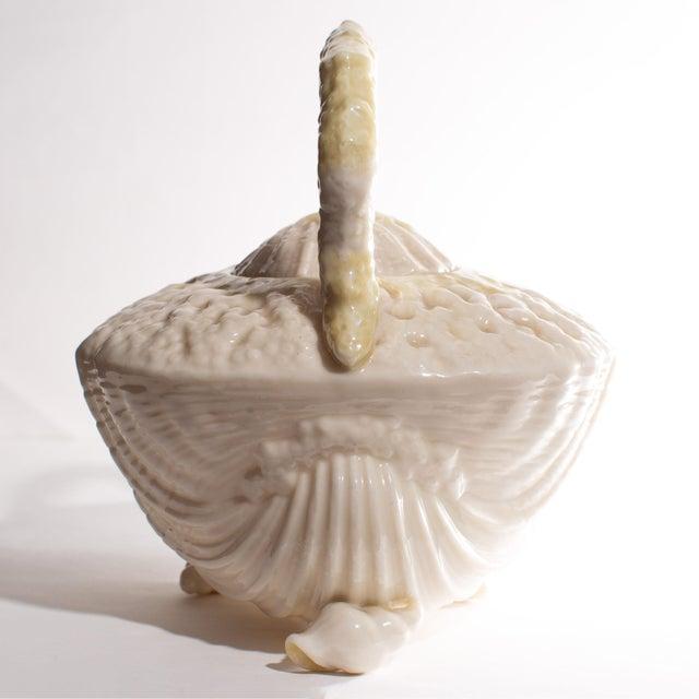 Art Deco Belleek Irish Seashell Teapot For Sale - Image 3 of 9