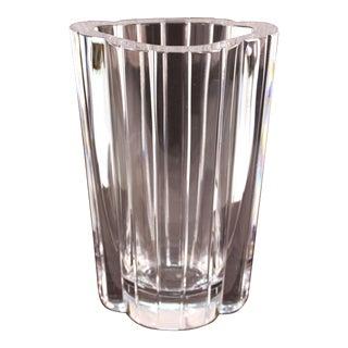 Orrefors Modern Crystal Vase For Sale