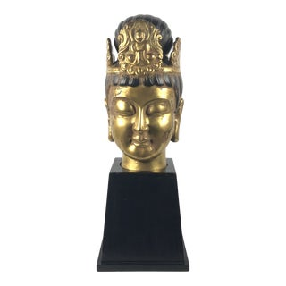 Vintage Buddha Head Sculpture For Sale