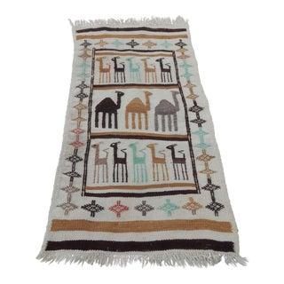 Vintage Tribal Animal Pictorial Gabbeh Rug For Sale