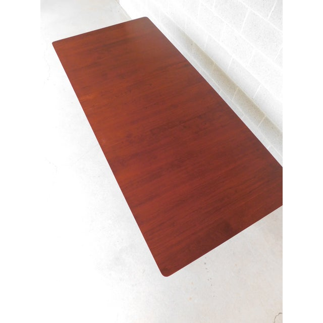 Early 21st Century Tom Seely Solid Cherry Country Style Dining Table For Sale - Image 5 of 11