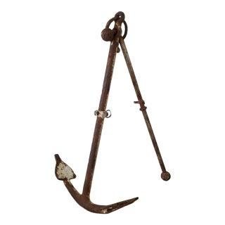 Large Vintage Metal Anchor Sculpture For Sale