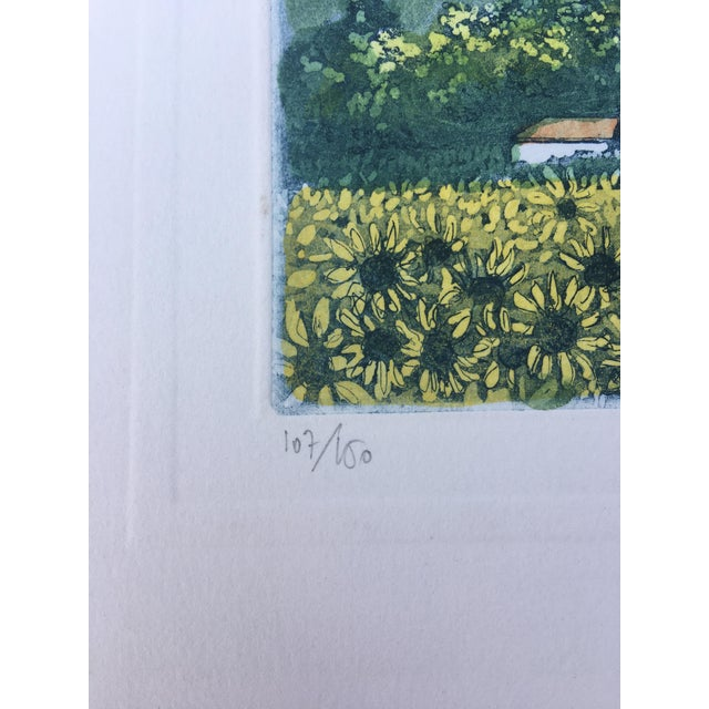 1960s Vintage Italian Watercolor Print For Sale - Image 5 of 8