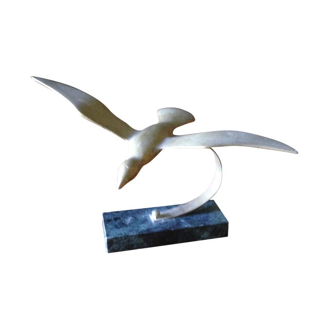 Vintage Brass Bird on Marble Base - Image 1 of 11