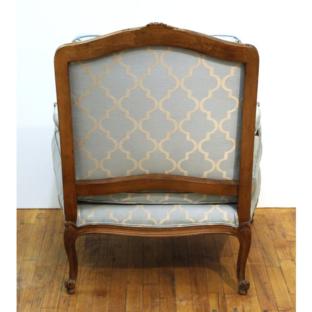 Mid 20th Century French Louis XV Provincial Style Bergere Chairs For Sale - Image 5 of 11