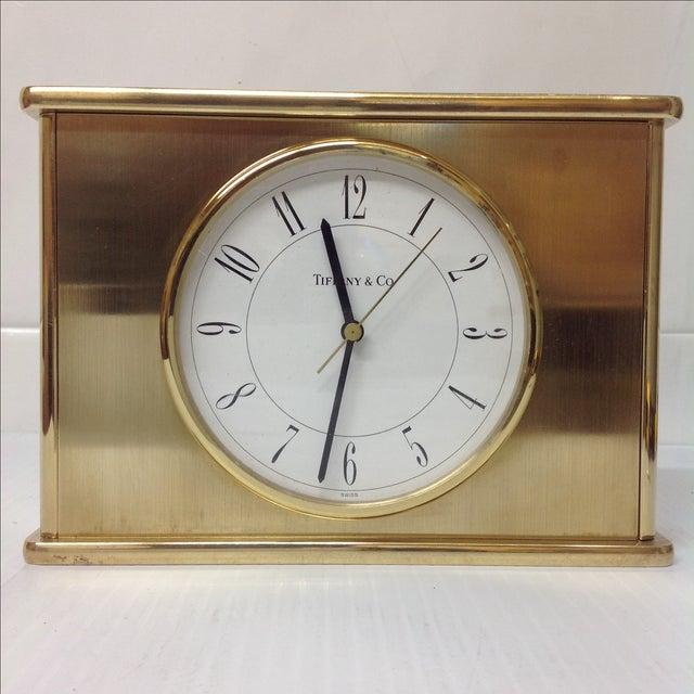 Vintage Tiffany & Co. Brass Mantle Clock - Image 2 of 8