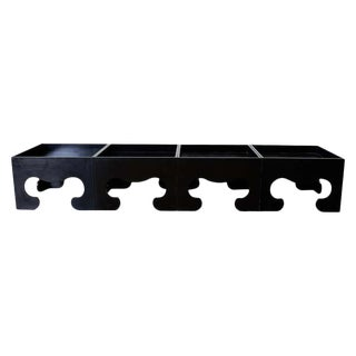 Set of Four Black Lacquered Cube Drinks Tables For Sale