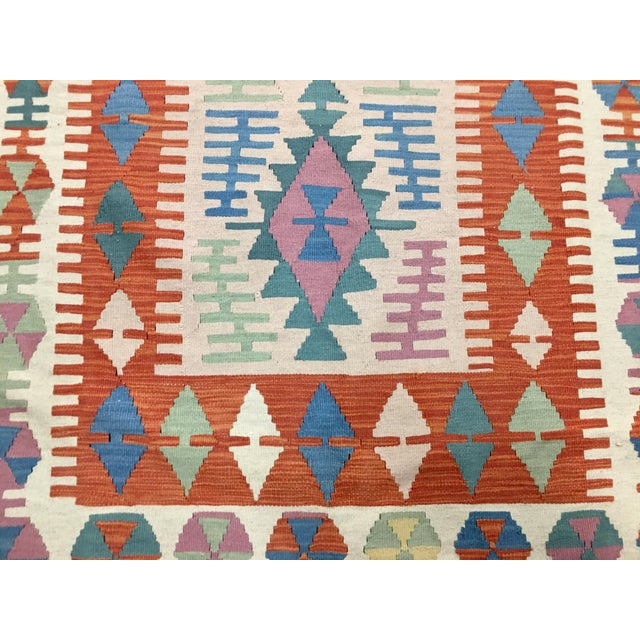 2000 - 2009 Contemporary Turkish Kilim Rug - 4′ × 6′2″ For Sale - Image 5 of 11
