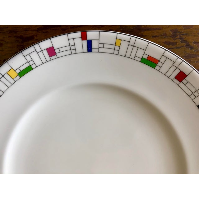 A pair of colorblock Gramercy Park Collection luncheon plates designed by Kate Spade for Lenox. See seller's other...