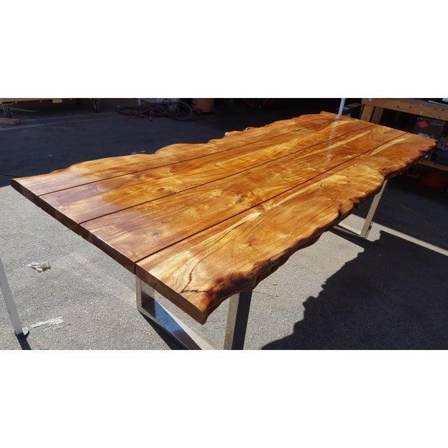Live Edge Acacia Wood Plank Table - Image 5 of 7
