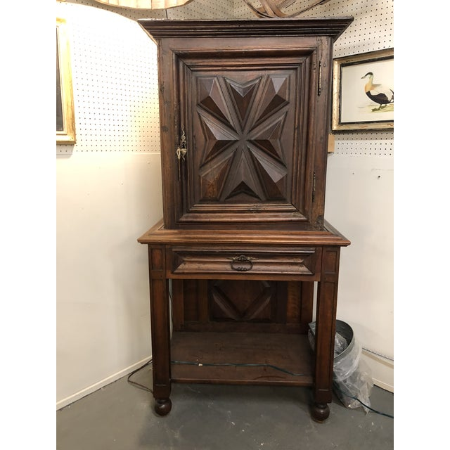 Wood French Louis XIII Sacristy Cabinet For Sale - Image 7 of 7