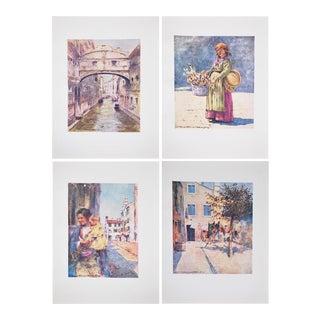 Antique Venice Prints by M. Menpes - Set of 4