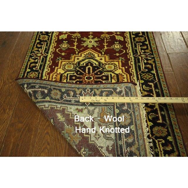 "Heriz Serapi Burgundy Handmade Rug - 2'5"" x 19'4"" - Image 7 of 7"