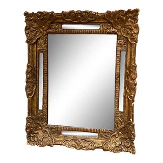 Antique French Gilt Mirror With Inset Frame Mirrors For Sale