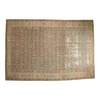 "Vintage Distressed Malayer Carpet - 7' X 10'2"" For Sale"
