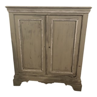 Light Gray Sideboard With Double Doors For Sale