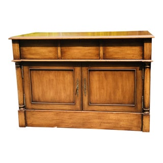 Custom Walnut Television Cabinet With Lift