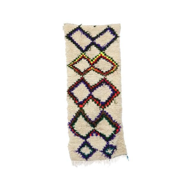 1980s Vintage Azilal Rug- 2′7″ × 6′5″ For Sale