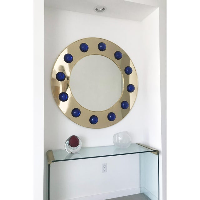 Hollywood Regency Fabio Ltd Marina Round Mirror For Sale - Image 3 of 8