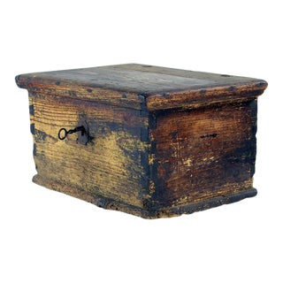 Antique Wooden Trunk With Praying Books For Sale