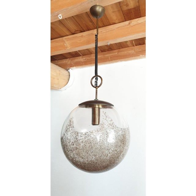 Mid Century Modern Murano Glass Pendant Light by Carlo Nason for Mazzega For Sale - Image 12 of 12