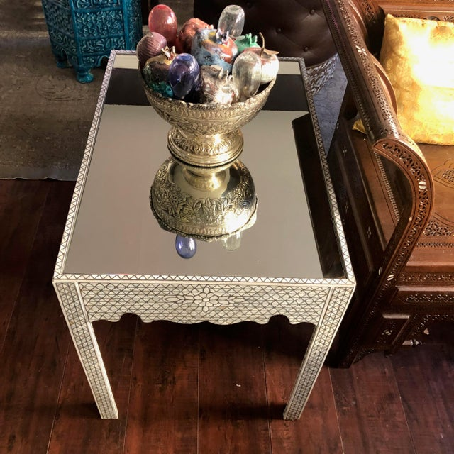1990s Moorish Mother of Pearl Inlay Side Table For Sale In Los Angeles - Image 6 of 11