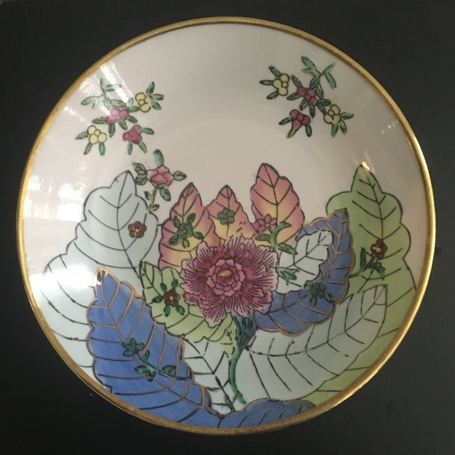 Vintage Chinese Tobacco Leaf Pattern Decorative Bowl For Sale - Image 4 of 4