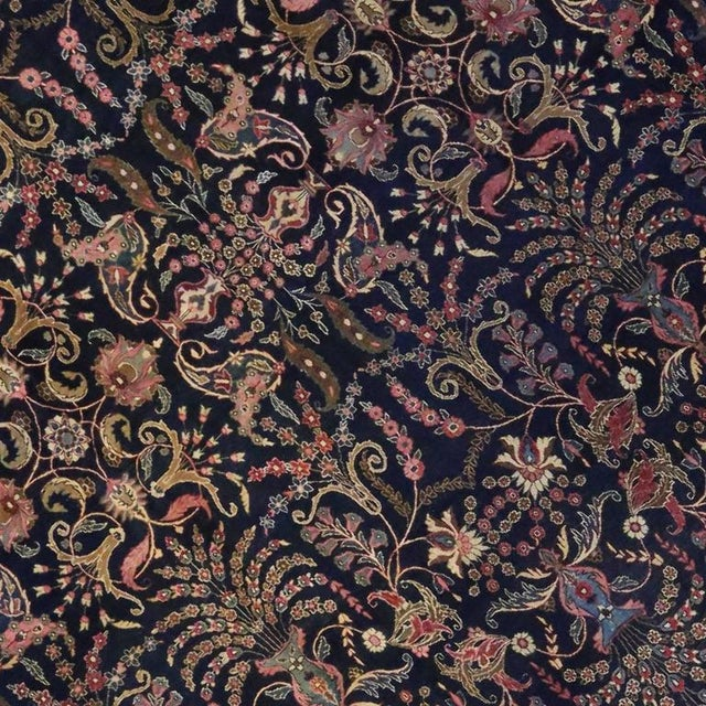 Antique Persian Mashhad Rug with Traditional Modern Style For Sale - Image 4 of 9