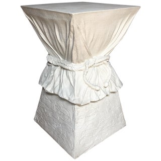 Hollywood Regency John Dickinson Style Draped Rope Side Table For Sale