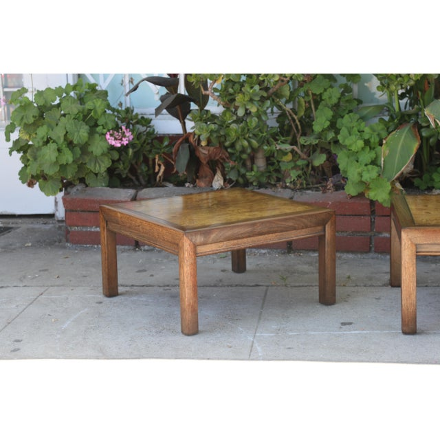 1960s 1960s Mid-Century Modern Henredon Burlwood Low Side Tables - a Pair For Sale - Image 5 of 8