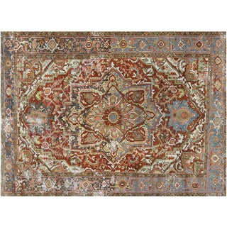 "Nalbandian - 1920s Persian Heriz Carpet - 7'10"" X 11' For Sale"
