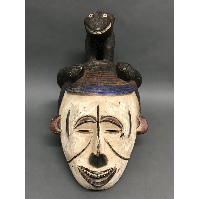 Black African Art Tribal Art Igbo Mask For Sale - Image 8 of 8