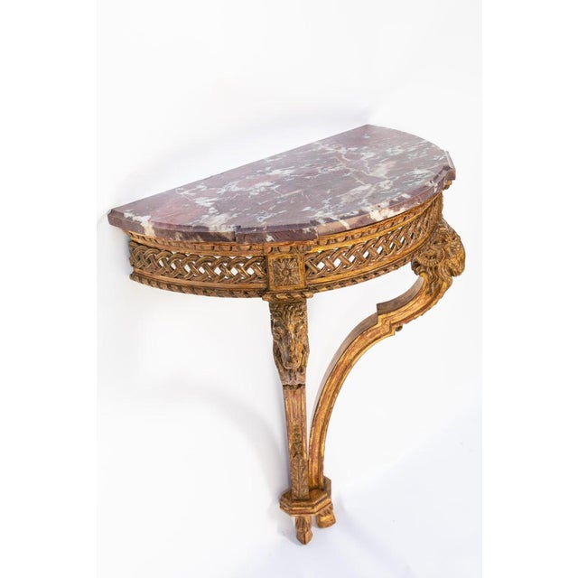 19th Century French Giltwood Wall Mounted Console For Sale - Image 4 of 11