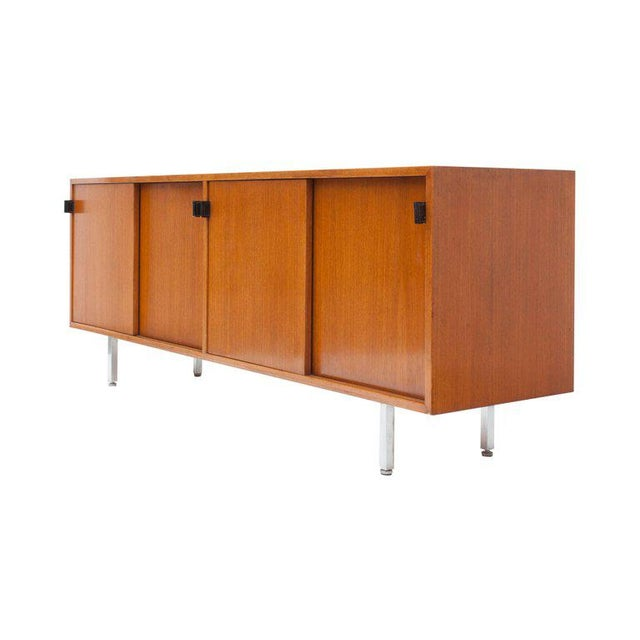 Modern Credenza in Teak by Florence Knoll, Manufactured by De Coene, 1950s For Sale - Image 9 of 11