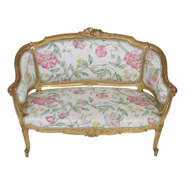 Antique French Gilt Carved Settee - Image 1 of 5